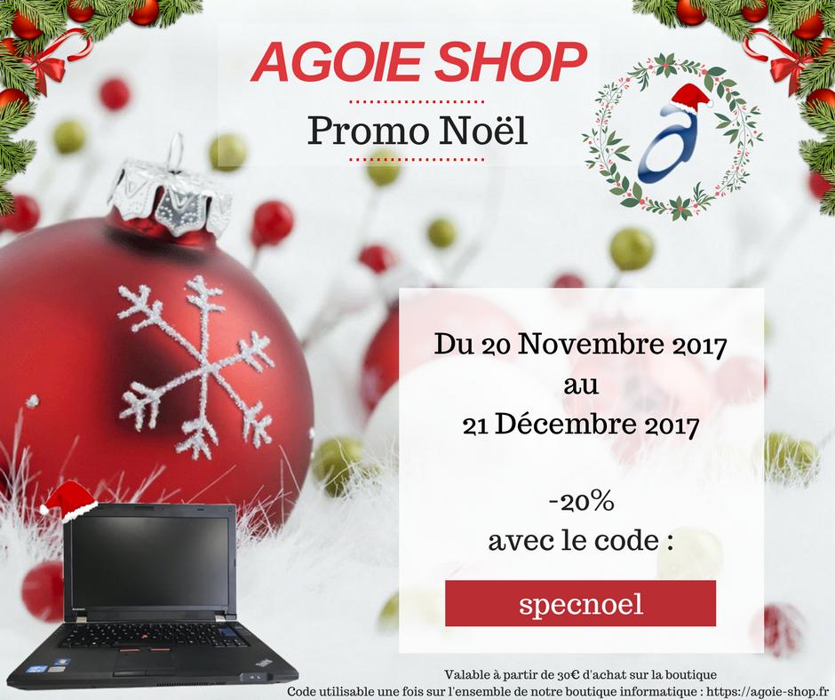 AGOIE SHOP Noël 2017 : Réduction -20% Du 20 Novembre 2017 au 21 Décembre 2017 !