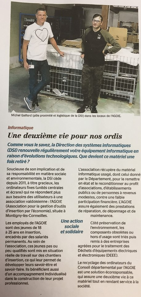 Chantier informatique et le Conseil Départemental du Val d'Oise